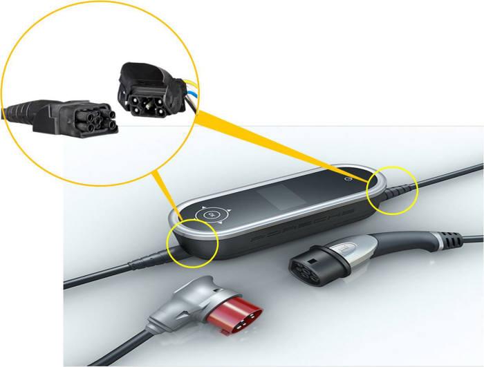 포르쉐 전기차 충전 시스템에 적용된 하팅 커플러
