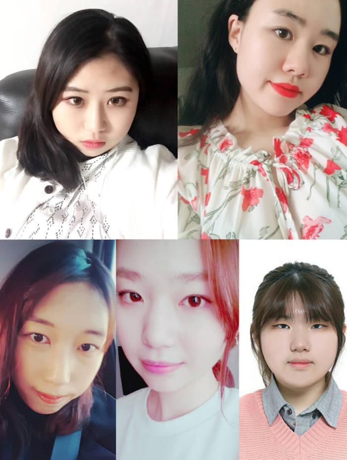 B.I.T(이소현, 박민정, 박시은, 이수현, 최재연)팀은 SNS 필터 앱을 기획했다.
