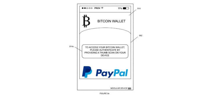 페이팔이 출원한 비트코인 결제 특허(공개번호 US20160148196) 도면