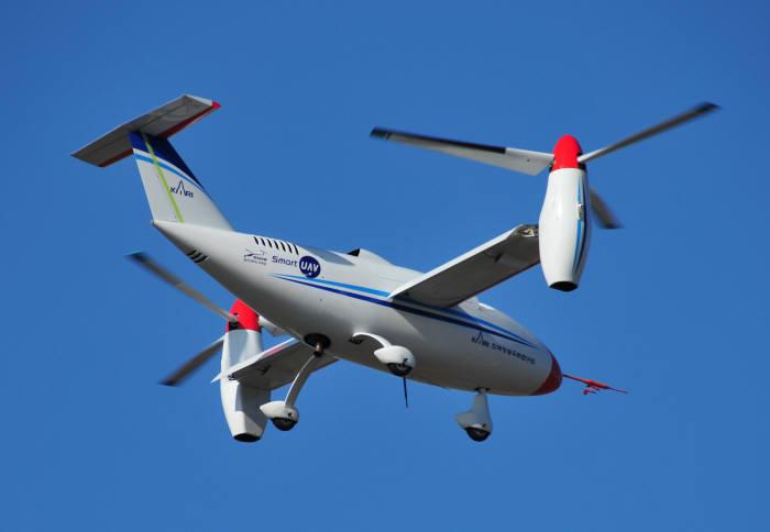 한국항공우주연구원이 개발한 틸트로터 무인기 TR-60.