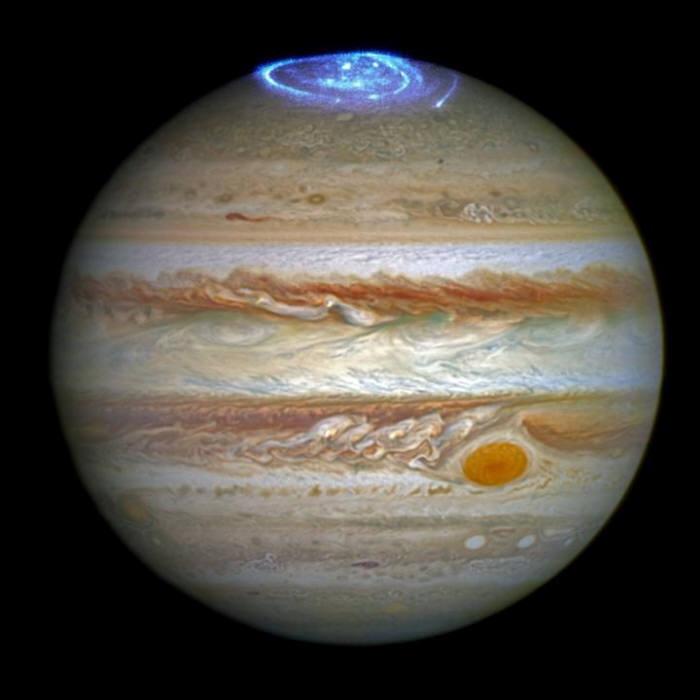 허블우주망원경이 포착한 목성 오로라 (사진:NASA)