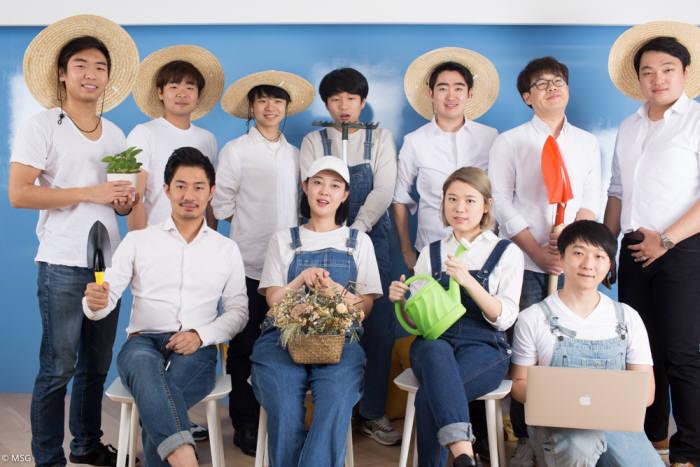 김혜연 엔씽 대표(앞줄 맨 왼쪽)과 엔씽 팀원<사진 엔씽>