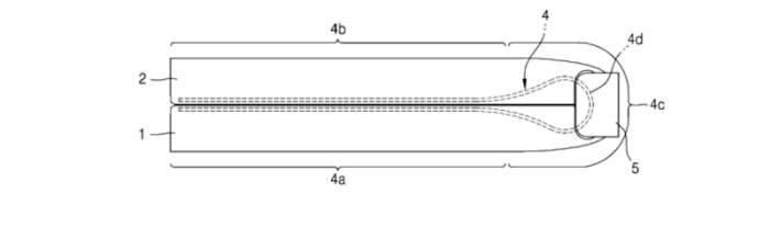 삼성전자가 디자인 특허를 출원한 폴더블 스마트폰 이미지(출처: 스터프).