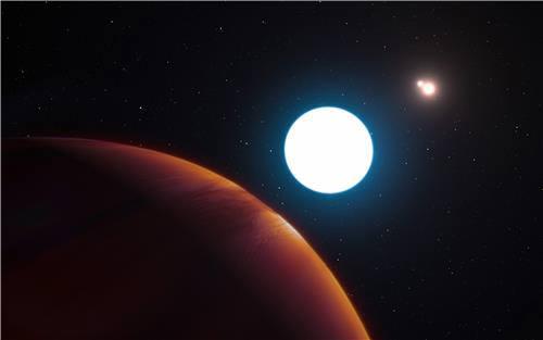 3개 항성과 HD131399Ab 상상도