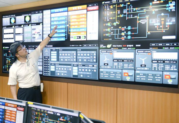 가파도 마이크로그리드 운영센터.