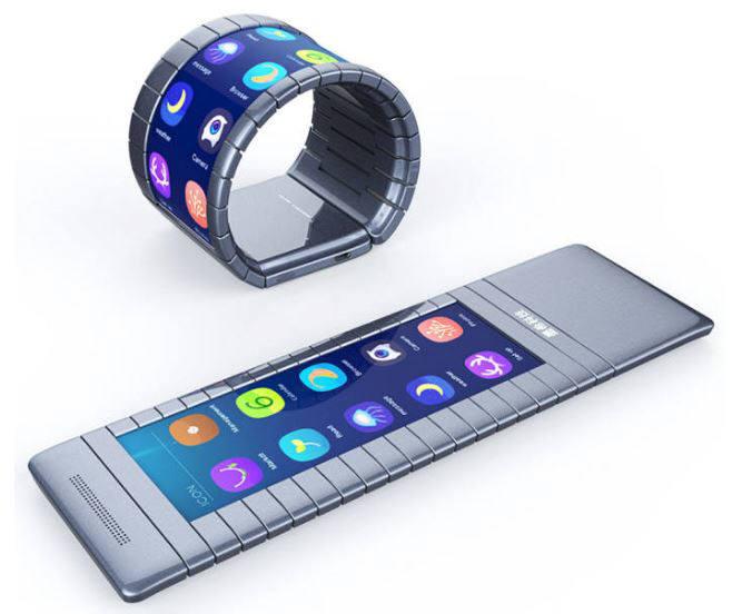 모씨가 상용화 계획을 발표한 벤더블 스마트폰