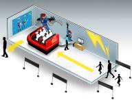 번개맨 지식재산권(IP)를 활용한 가상현실 어트랙션 구축 및 운영 개념도
