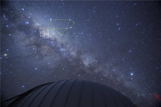 KMTNet 망원경의 주 관측영역(궁수자리 주변 우리은하 중심부)