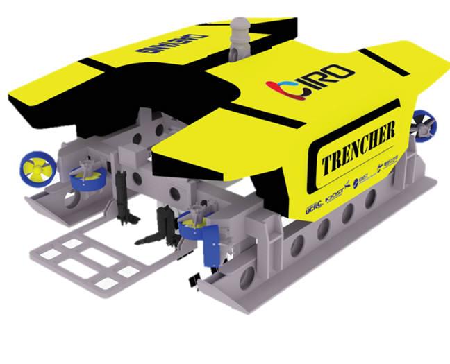 KIRO가 개발중인 ROV 기반 수중 중작업용 로봇 개념도