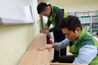코오롱, `DIY` 사물함 전국 아동센터 기부