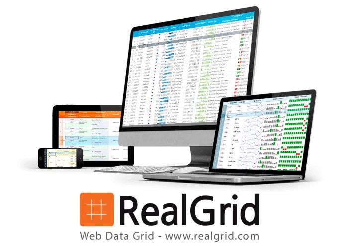 우리테크의 웹 애플리케이션 UI 개발 툴 `리얼그리드JS`