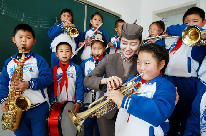 아시아나항공, 中 `터우짠진 중심학교`와 26번째 `아름다운 교실` 자매결연