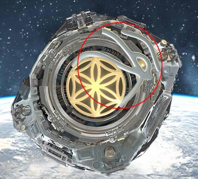 유튜브 사용자 `Dahboo777`은 우주국가 `아스가르디아` 로고에 일루미나티 혹은 프리메이슨 상징인 `호루스의 눈`이 숨어있다고 주장했다./사진=데일리메일