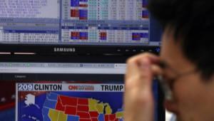 증시 블랙스완 공포 현실화…트럼프 당선에 아시아 증시 패닉
