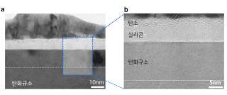 탄화규소 표면에 레이저를 쏜 뒤 전자현미경 사진