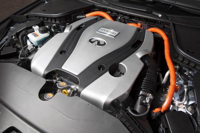 인피니티 Q50S 하이브리드에 장착된 3.5리터 VQ엔진과 하이브리드 시스템 (제공=인피니티코리아)