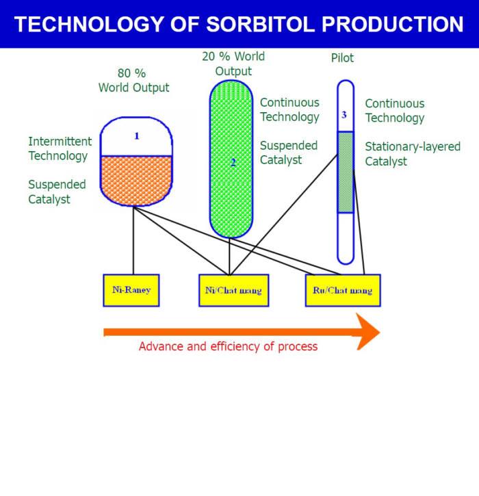 한국화학연구원의 솔비톨 연속 대량생산 제조기술 공정 과정