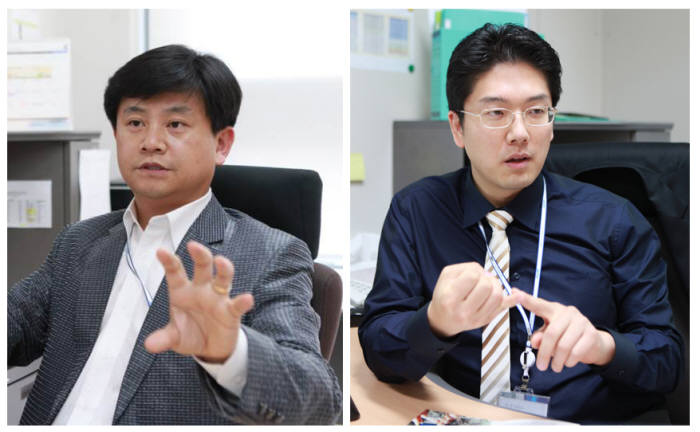 바이러스 감염병 진단용 데이터베이스를 개발한 구재형 교수(왼쪽)와 김민수 교수.