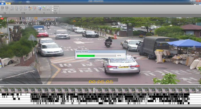 리얼허브는 최근 동영상 객체 정보 텍스트화 장치를 개발해 미국에 특허 등록했다. 사진은 리얼허브의 CCTV 영상 정보 분석 솔루션 화면.
