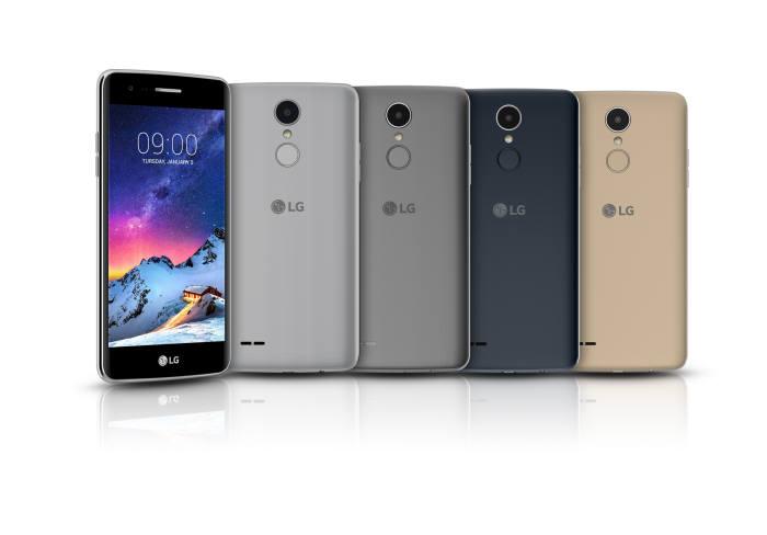 LG전자가 CES 2017에서 선보인 K8(2017) 스마트폰.