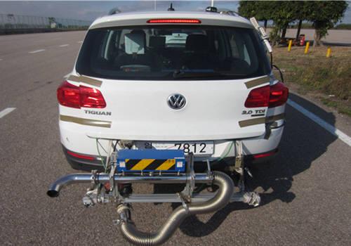 폭스바겐 티구안 실외 도로주행 배출가스시험.