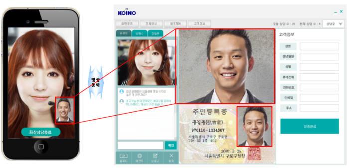 코이노의 유씨투게더 사용 화면(제공:코이노)