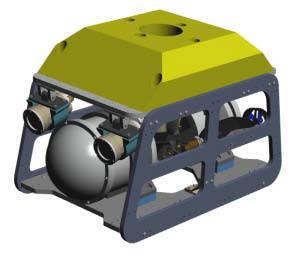 로보스텍의 미니 ROV시스템 본체.