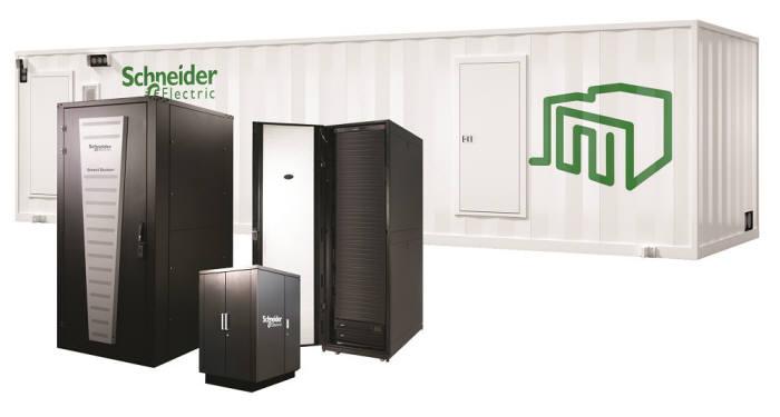 슈나이더 일렉트릭이 HPE와 공동으로 개발한 HPE 마이크로 데이터센터.