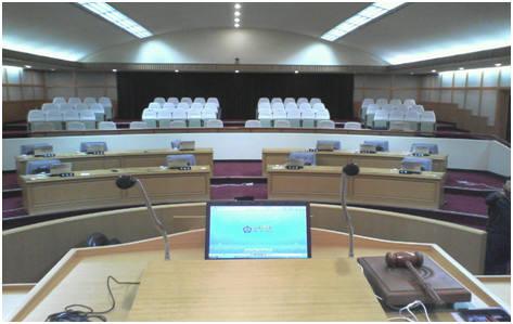 파주시의회에 구축한 우암의 스마트전자회의시스템