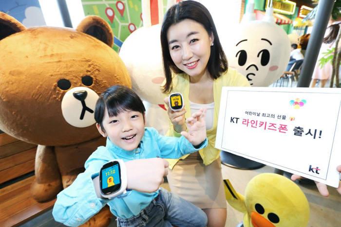 국내 최초 카메라 탑재 키즈폰 나온다··· KT, `라인키즈폰2 출시`
