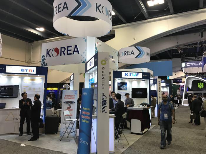 한국정보보호산업협회는 코트라와 함께 한국관을 마련 14개 기업이 참여했다.