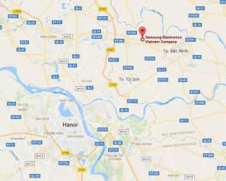 베트남 박닌 성 옌퐁산업단지에 위치한 삼성전자 휴대폰 공장. 이 곳을 중심으로 휴대폰 협력사들이 밀집해 있다.