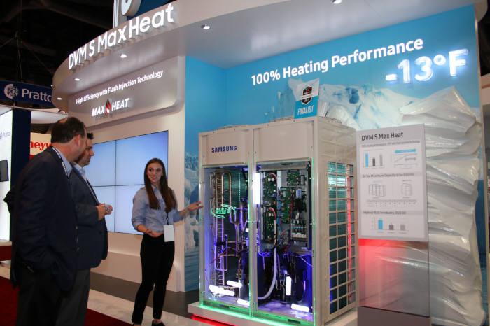 삼성전자는 올해 초 미국 라스베이거스에서 열린 국제 냉난방 공조 설비 박람회 '2017 AHR Expo'에 참석해 신제품을 선보였다.