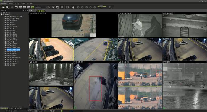 지능형 CCTV 영상.