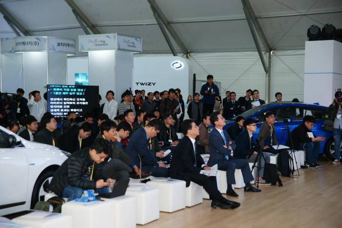 17일 제주 중문단지 여미지식물원에는 국제전기차엑스포 개막을 앞두고 열린 프레스 데이 행사가 열렸다.
