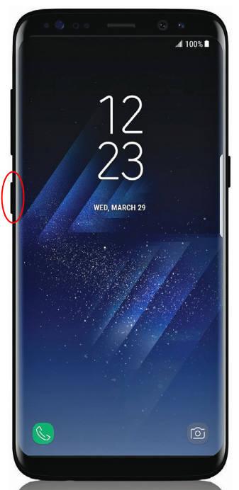 외신을 통해 유출된 '갤럭시S8' 좌측에는 포털 검색, 뉴스·동영상 보기, 빅스비 실행이 가능한 새 버튼이 탑재됐다.