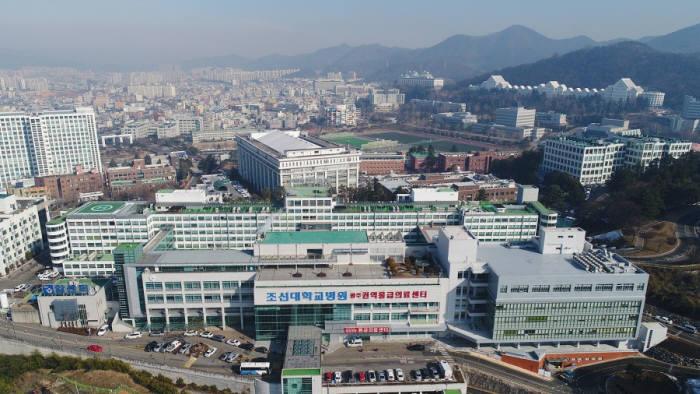 조선대 병원 전경.