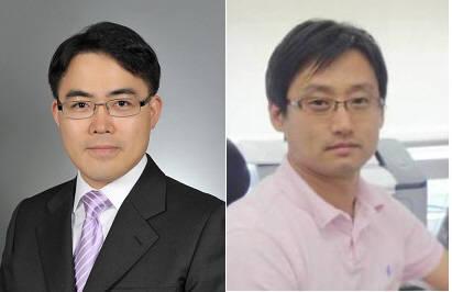 기존 공정에 적용 가능한 고분자 반도체를 개발한 오준학 포스텍 교수(왼쪽)와 양창덕 유니스트 교수.