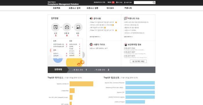 KT DS '오빅스 컴파스' 주요 서비스 화면