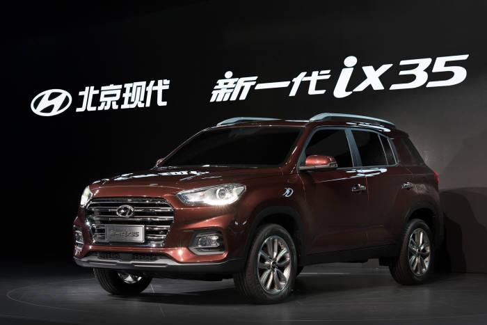 '2017 상하이 국제모터쇼'에 첫 공개된 현대차 신형 SVU 'ix35(현지명 신이따이 ix35)'.