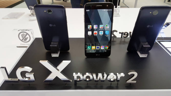 국내 출시 스마트폰 중 최대 용량 배터리를 탑재한 LG전자 'X파워2'