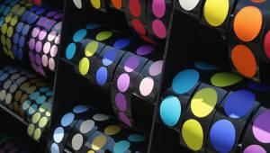 폼텍, 신제품 컬러 원형라벨 '마이스티커' 출시