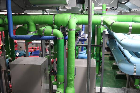 한국환경산업기술원 신청사에 설치된 지열히트펌프 설비. [자료:환경산업기술원]