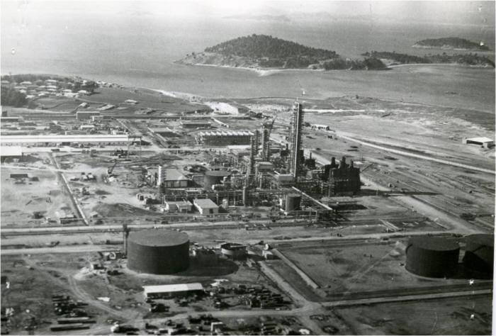 1969년 GS칼텍스가 준공한 원유정제시설. [자료:GS칼텍스]