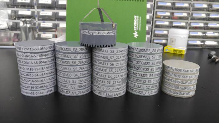 한국표준과학연구원이 개발한 고출력 초음파 측정용 표적물질.