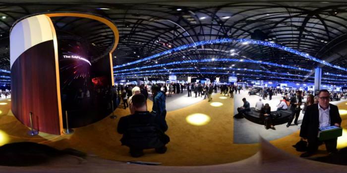 360도 카메라로 촬영한 SAP 사파이어 행사장 내부 전경