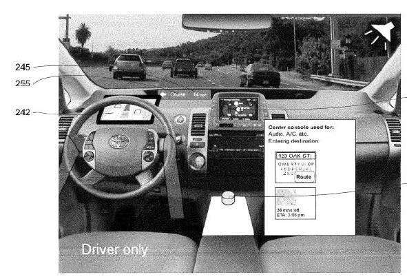 2010년 미국 특허상표청에 출원(신청)해 등록된 자율주행차 관련 특허(등록번호 9132840) 도면/ 자료: 미국 특허상표청