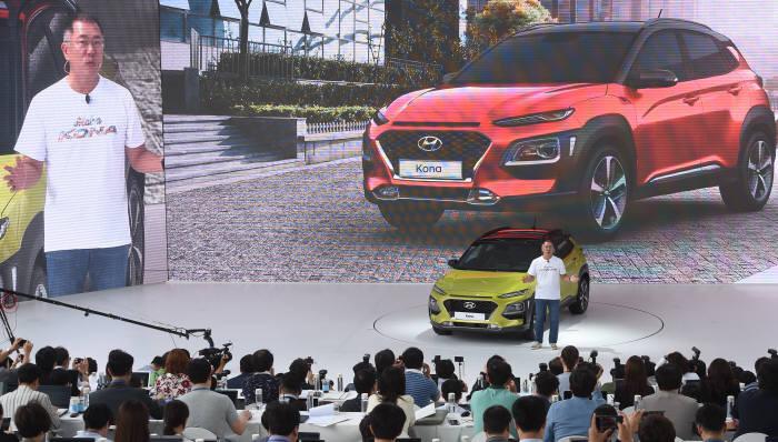 [동영상 뉴스]첫 공개된 현대차 소형SUV '코나'