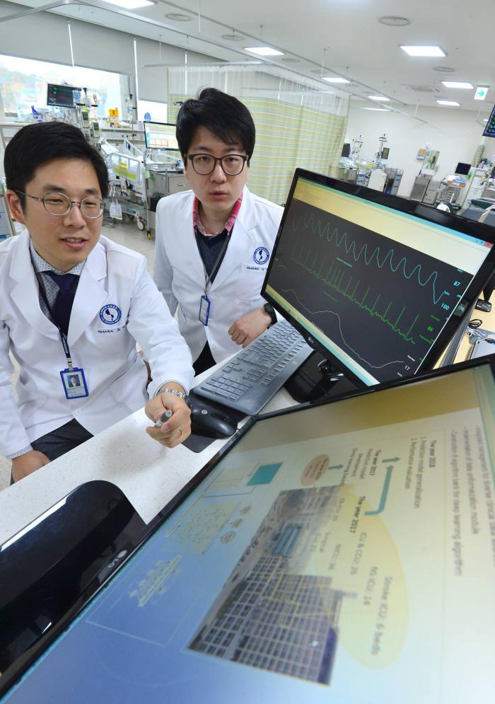 국내 최초 인공지능 기반 응급실을 구현한 아주대병원(자료: 전자신문DB)