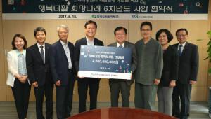 한수원, 한국사회복지협의회 '행복더함 희망나래' 사업비 40억 기부